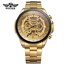 428 Men Watch Semi-Automatic Mechanical Watch Time Display Fashion Casual Stainless Steel Strap Luminous Hands Male Wristwatch Relogio Masculino