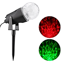 Kaleidoscope Projector Red & Green Spotlight Waterproof EU - Black