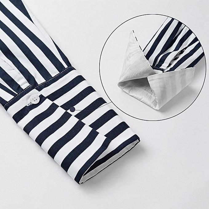 856daa04286 ... Women Striped Shirt Off the Shoulder Top Cotton Long Sleeve Female  Blouse Top Dark Blue ...