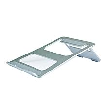 Computer Desktop Display Holder Storage Shelves Bracket Monitor Stand silver