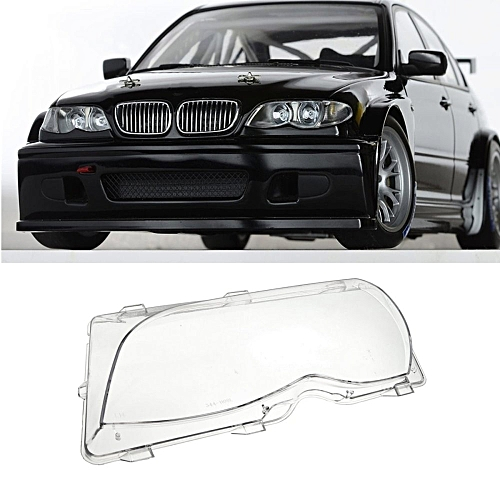 Driver Side Left Headlight Clear Lens Plastic Cover For BMW E46 4 DR 01-05