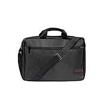 GEAR-MB Black Laptop Messenger Bag with Water-Resistant for 15.6inch Laptop