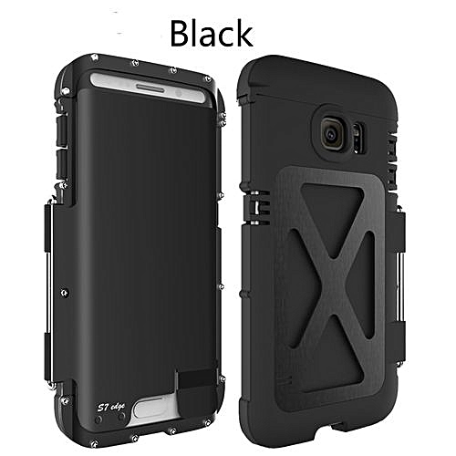 purchase cheap 7245f 85e61 R-just Armor King Stainless Steel Iron Man Flip Aluminum Metal Cover Metal  Case For Samsung Galaxy S7 Edge Black (Color:c0)