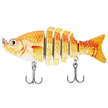 9CM 6 Part Weever Shape Crankbait Hook Fishing Bait - Colormix