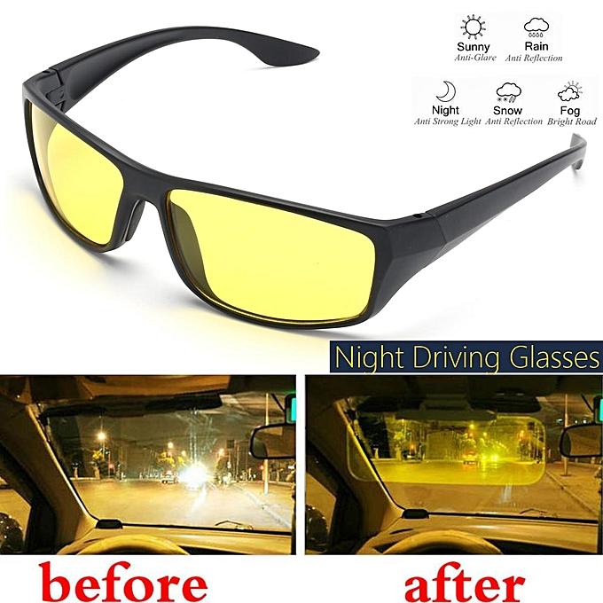 86caa42772b1 Night Driving Glasses Anti Glare Vision Driver Safety Sunglasses Goggles -  Beige