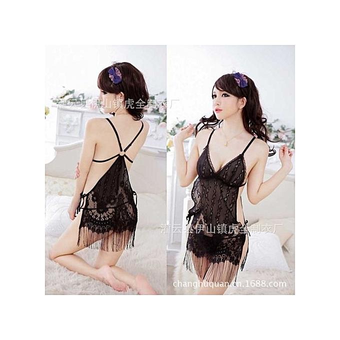 Fashion Women NightDress Babydoll Sheer Sexy Lingerie Set Lace Sexy ... 21b665cc9