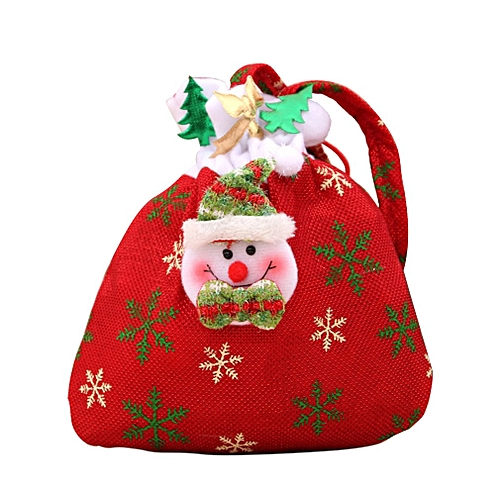 Christmas Candy Decorations.Christmas Decorations New Santa Claus Snowman Gift Bags Christmas Candy Bags Red Snowman
