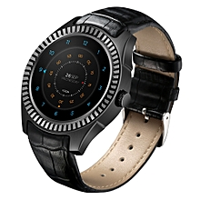 DTNO.I D7 3G Smartwatch Phone 1GB RAM 8GB ROM 1.3 inch Android 4.4 Bluetooth 4.0 - BLACK