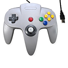 Game Controller USB Wired Classic Retro N64 Bit for PC and MAC - Grey