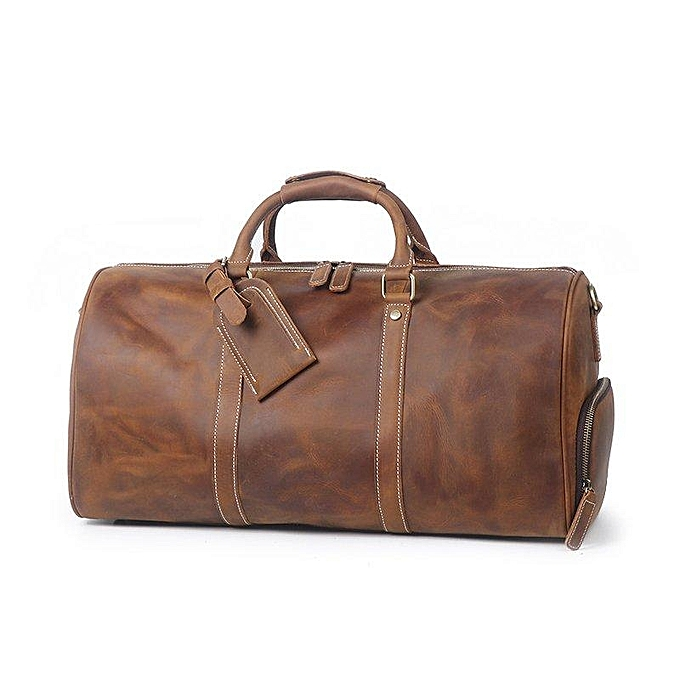 760de29da6e BLUESEBE HANDMADE VINTAGE LEATHER DUFFLE BAG WITH SHOES COMPARTMENT S12026