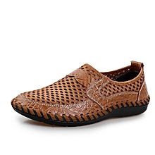 Men Breathable Slip-On Casual Shoes-Brown