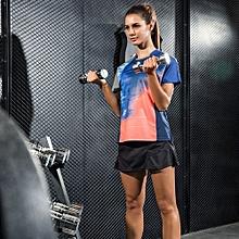 2018 Fashion Women Girl's Badminton Tennis Running Casual Sports Shirts And Skirts Uniform Set(1014)