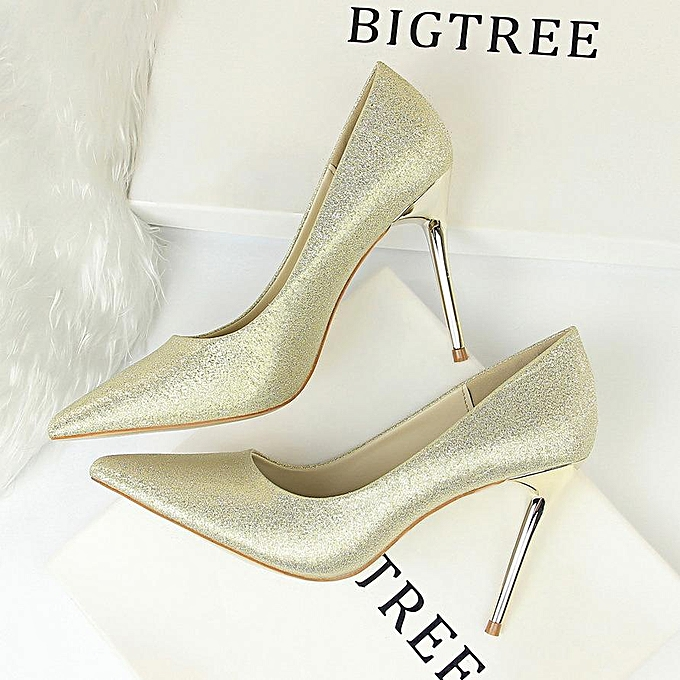 2265aba791a High-Heeled Shoes Thin Heels Woman Pumps Suede Women Shoes Pointed Toe High  Heels Closed Toe Ladies