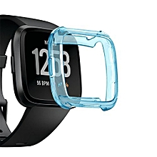 Watch TPU Silicone Cover Case Watch Casing Guard Protector For Fitbit Versa Smart Band-Blue