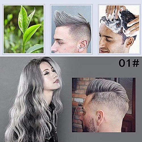Generic DIY Hair Color hair Pomade Silver Ash Grandma Grey Hair Men ...