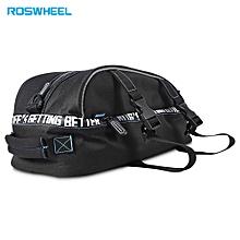8L Double Deck Bike Rear Seat Rack Pack Two Layer Bicycle Shelf Pocket Shoulder Bag
