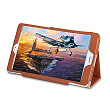 Master T8 Tri-Foldable Protective Case Stand Function - Brown