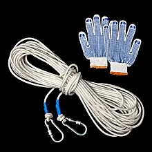 10/20/30/50M 8mm Mountaineering Climbing Sport Survival Recovery Rope Carabiner # 30m