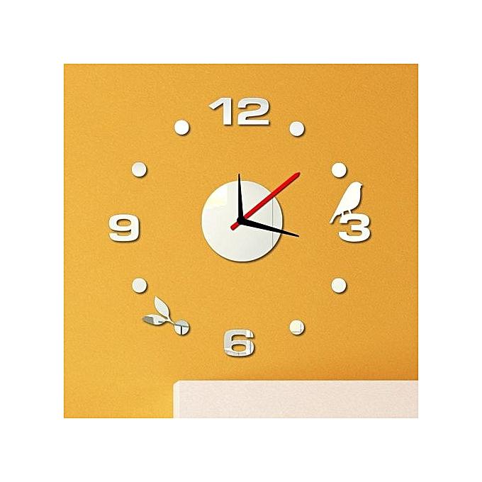 Anniversary Sales - Buy UNIVERSAL Simple Digits Wall Clock Sticker ...