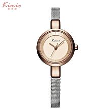 KIMIO-KMO6115 Quartz watch fashion bracelet watch fashion female form ROSE GOLD BROWN