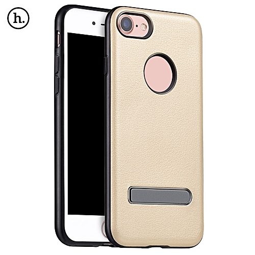 HOCO Creative PU Leather Cover Case with Metal Magnet Stand for iPhone 7 4.7 inch