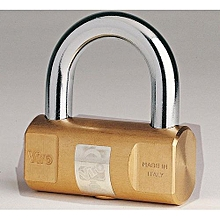 102 Cylindrical Brass Padlock 100 Series ITALY 50MM