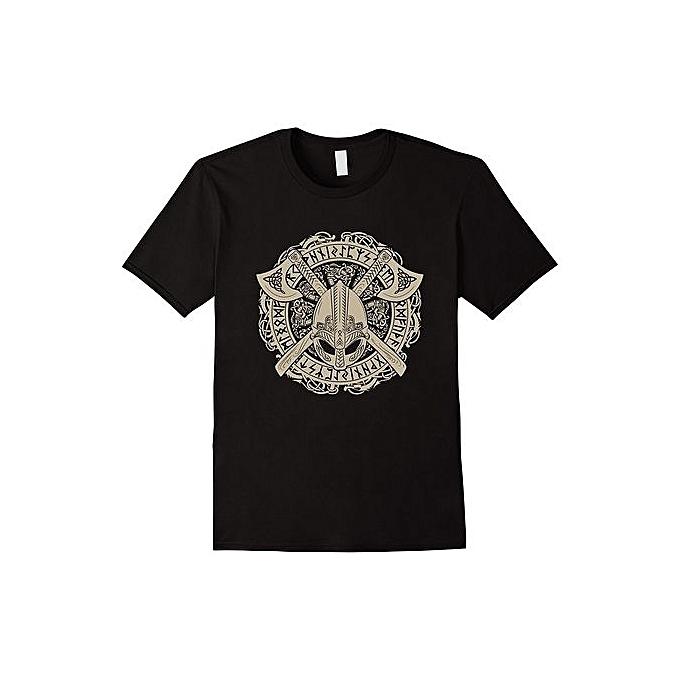 e86d4374 Viking Skull T Shirt Fashion Short Sleeved T-shirts Summer Funny Tee Shirt  For Men