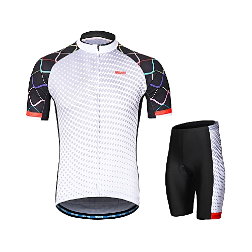 ARSUXEO ARSUXEO Men's Cycling Clothing Set Short Sleeve Set Quick-dry Shirt 3D Cushion Padded Short Pants