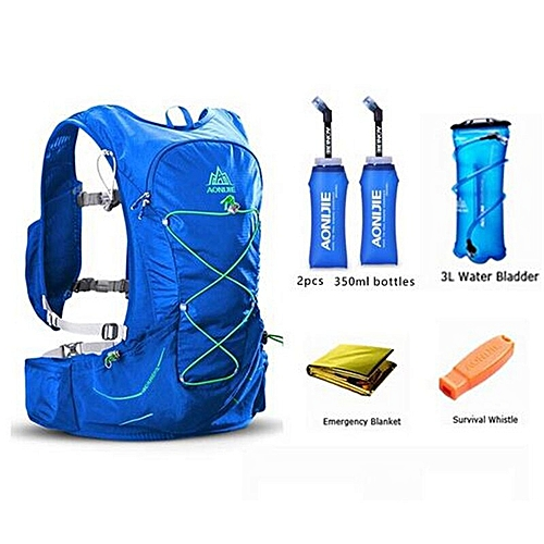 3a1456d0ff7 AONIJIE 15L Outdoor Light Weight Hydration Backpack Rucksack Bag Free 3L Water  Bladder For Hiking Ultra Trail Running Race(Set Blue 4)