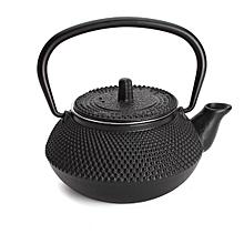 300ml/10.15oz Japanese Style Cast Iron Kettle Teapot & Strainer Tea Pot Black