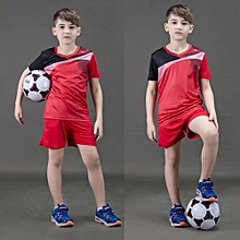 2018 New Brand Children Kid Boy And Adult Men's Football Soccer Team Training Sports Jersey Set-Red