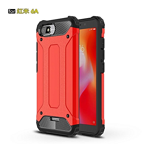 finest selection 9ee96 8846c For Xiaomi Redmi 6A Case Hybrid Durable Shield Armor Rugged Shockproof Back  Cover For Xiaomi Redmi 6A Double Protect Case 5.45inch