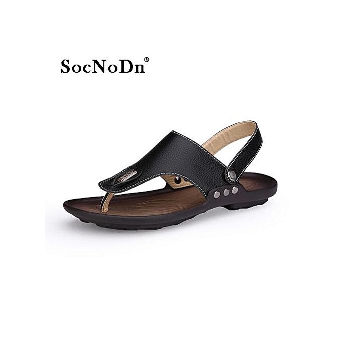 eb37966bb SocNoDn Men New Fashion Casual Summer Sandals Flip Flops Shoes Black ...