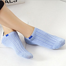 1Pair Unisex Comfortable Stripe Cotton Sock Slippers Short  Ankle Socks