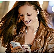Sport Bluetooth Wireless Stereo Headset Earphone Headphone W/MIC For Samsung-White