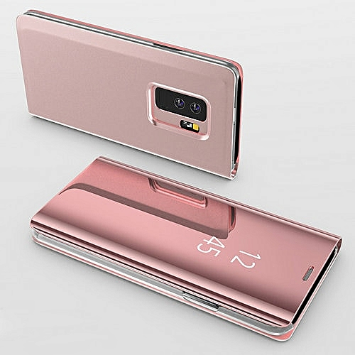 the latest 97a7b 4c39c for S9 Plus case Smart Mirror Flip Case For Samsung Galaxy Plusfor S9 Plus  case -Rosegold