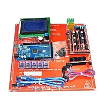 NEW 3D Printer Kit RAMPS 1.4+Arduino Mega 2560+DRV8825+12864LCD+PCB Heatbed MK2B