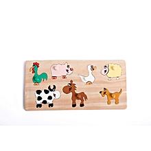 Puzzle - Seven Domestic Animals - Multicolour