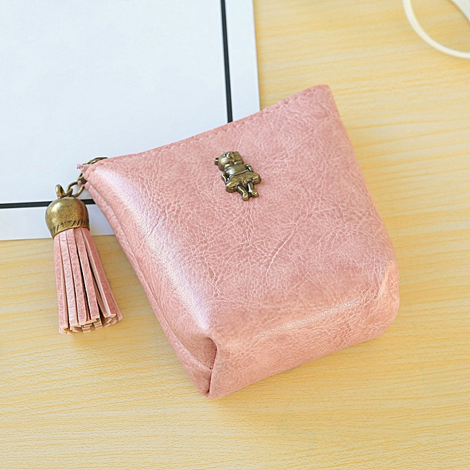 d2a147cbe561 Women Girls Cute tassel Snacks Coin Purse Wallet Bag Change Pouch Key  Holder D