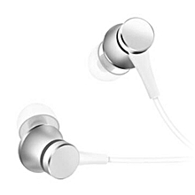 Piston Style 3.5mm Wired Earbud Earphone w/ Microphone - White
