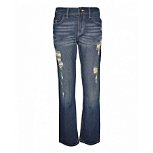Dark Blue Destructed Boys Denim Pants