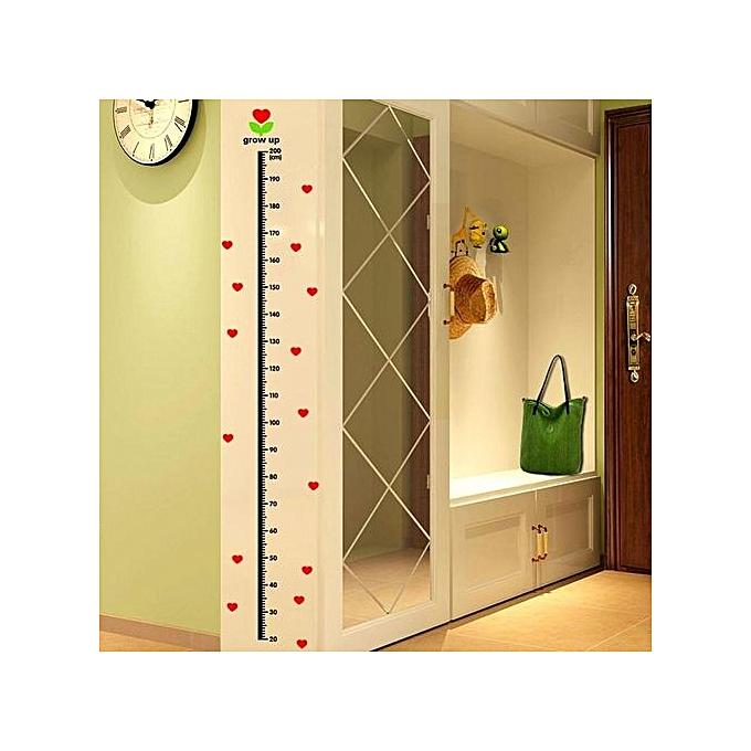 Buy Vakind Heart-shaped Pattern Wall Sticker Height Measurement Wall ...