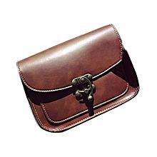 bluerdream-Fashion Handbags Leather Women Bag Lnsert Lock Shoulder Bag Leisure Bag CO-Coffee
