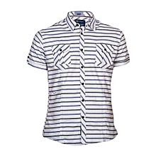 White Short Sleeved Shirt With Stripes
