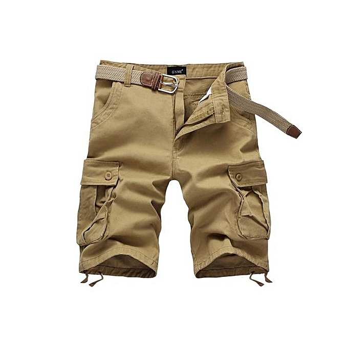 93310ada15 Men's Casual Camouflage Loose Cargo Shorts Men Large Size Multi-pocket  Military Short Pants Overalls