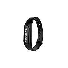 Bluetooth 4.0 Smartband IP67 Smart Bracelet Fitness Activity Tracker Anti-lost Call SMS Reminder - Black