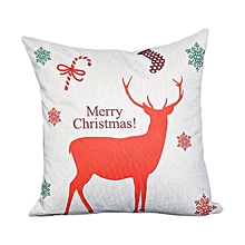 45cm*45cm Deer Cotton Linen Pillowcase Throw Pillow Houseware Pillow Cushion