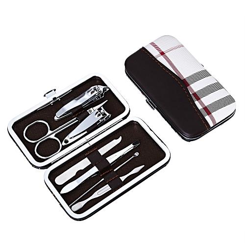 Nail Clipper Kit Scissor Tweezer Knife Ear Pick Manicure