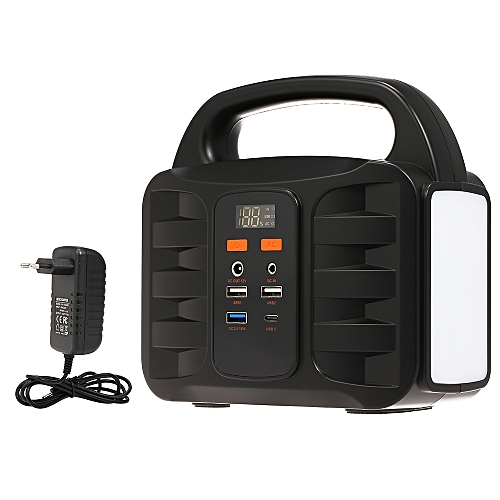 07f7ec5e8a4f9c Generic Portable Generator Power Supply Station 155Wh Emergency Backup  Lithium Battery, Quiet Gas-free Power Inverter, Charged by Solar Panel/Wall  ...