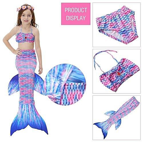 Buy Universal Kids Girls Swimsuit Bikini Set With Mermaids Tail Sea
